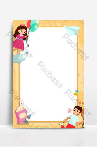 Learning Education Cartoon Children Photo Frame Background Backgrounds Psd Free Download Pikbest Frame Background Kids Photos Photo Frame