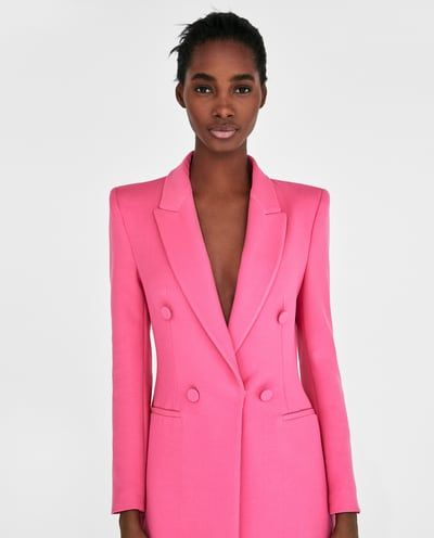 a3dde13e pink suit. zara. | Outfit | Frock coat, Pink suits women, Blazer sale