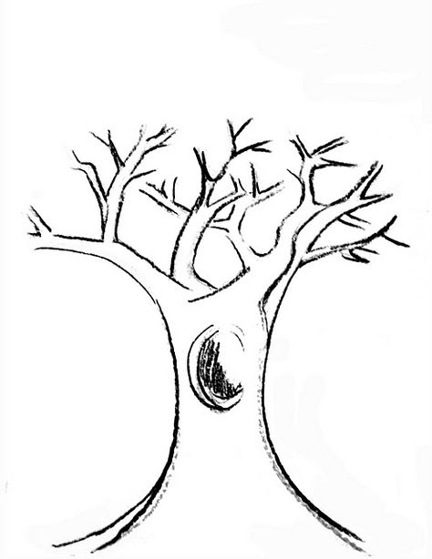 photograph about Printable Tree Trunk referred to as Pinterest