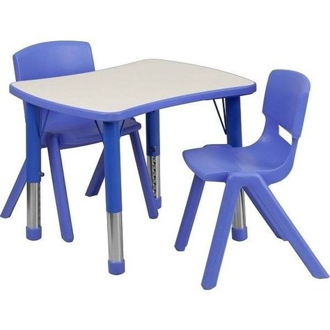 Kids Table Chairs Activity Set Adjustable Proper Sitting Rounded