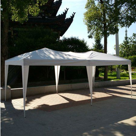 10 X 20 Wedding Party Tent Waterproof Folding Tent Gazebo Beach Canopy With Carry Bag For Outdoor Indoor Use Beachweddings Gazebo Outdoor Patio Tents