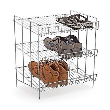 Stainless Steel Wire Shoe Rack Basket In Dist Shoe Rack
