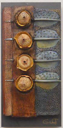 Vicki Grant   Homage to Tane Mahuta (12246), 2012   Ceramic Mixed Media  8 x 16 inches