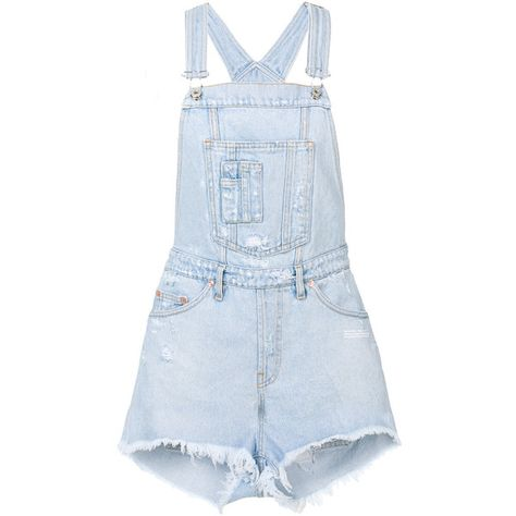 e5ec5cde4fc9 Off-White denim dungarees (€510) ❤ liked on Polyvore featuring jumpsuits