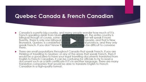 What Areas in Canada are French Canadian - best of russian birth certificate translation sample