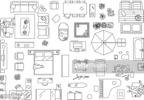 25 Furniture Icons For Floor Plans In 2020 Interior Design Sketches Interior Design Plan Interior Design Drawings