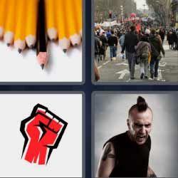 Punk Lapices Puno Rojo 4fotos 1palabra Com 4 Fotos 1