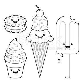 Cute Ice Cream Characters Con Imagenes Dibujos Animados Para