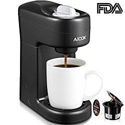 Aicok Single Serve Coffee Maker Single Cup Coffee Brewer With One Touch Buttons For Most Single Cup Pods Including K Cup Pods Quick Brew Technology 800w Bla Single Coffee Maker Single Cup Coffee