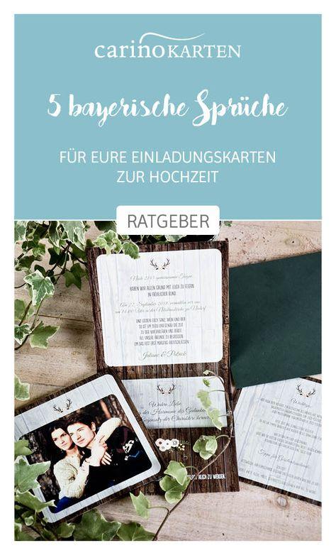 Ratgeber Zur Hochzeitsplanung 5 Bayerische Sprüche Zur