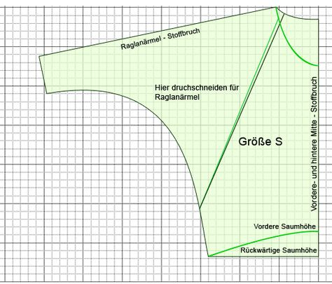 [Long-Sleeve Batwing Top in S,M,L & XL] oversize-shirt pattern // by http://www.schneidern-naehen.de . Details are in German - will need to translate them.