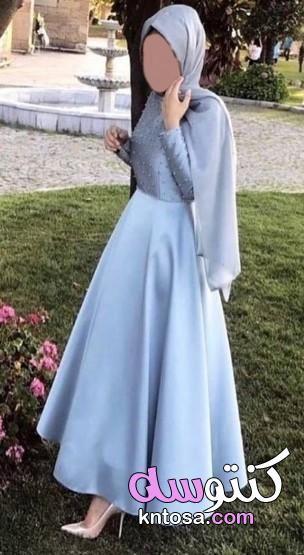 فساتين طبقات شيفون2020 أفكار فساتين سواريه بسيطة وشيك للمحجبات موديلات فساتين خطوبة طبقات Kntosa Com 04 20 158 Soiree Dress Fashion Dresses