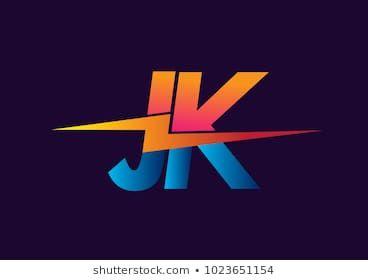 Letter Jk Logo With Lightning Icon Letter Combination Power