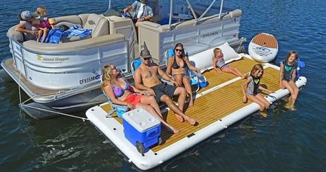 Sometimes you just wish you had more space to have fun. This is why this inflatable patio deck is designed to give your dock, sailboat or yacht more room