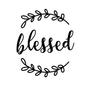 Silhouette Design Store - View Design #155428: blessed