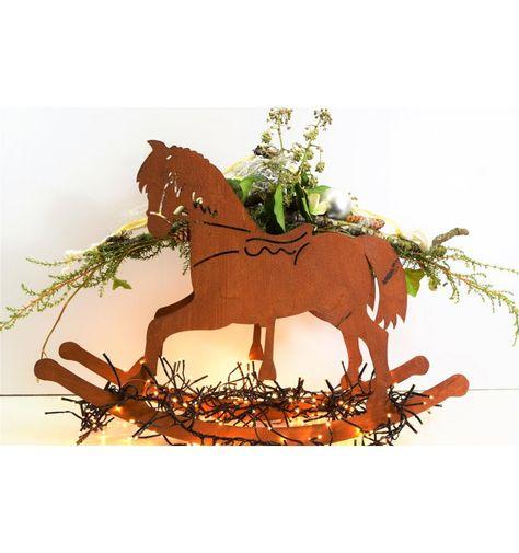Https Shop Metallmichl Com De Pferde Esel 6142 Schaukelpferd Mit Topf Gross 41 Cm Hoch 8866197597233 Html Schaukelpferd Pferd Pferde