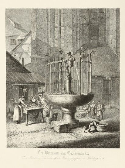 Der Brunnen Am Gansemarkt Von Pankratz Lebenoff In Bronz Gegofsen