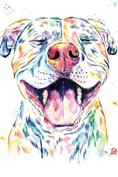 Pit Bull, Pitbull Watercolor Pet Portrait Painting - Tango Coffee Mug by Whitehouse Art - 11 oz Dog Artwork, Canvas Artwork, Perros Pit Bull, Pitbull Drawing, Cute Pitbulls, Dog Paintings, Animal Drawings, Dog Mom, Pet Portraits