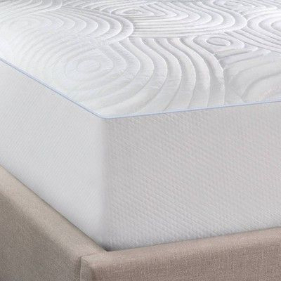 Tempur Pedic Queen Cool Luxury Mattress Pad Adult Unisex White