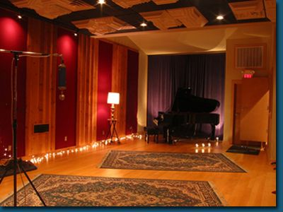 Recording Studio Love The Warm Colors, Lighting, And Rugs