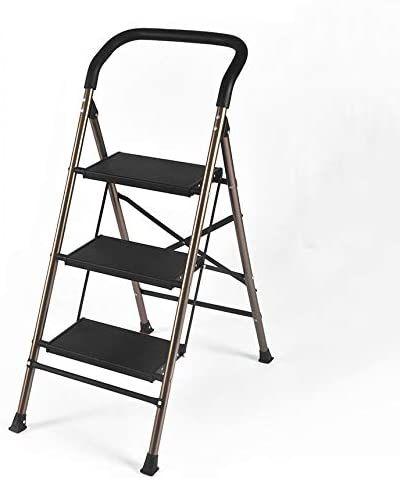Lycil Aluminum Step Ladder Folding Heavy Duty 3 Step Step Stool