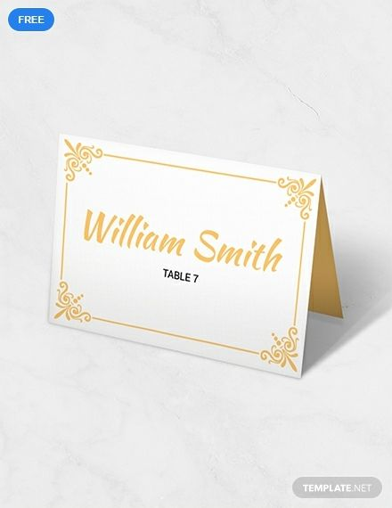 An Elegant Wedding Table Card That Is Easy To Personalize Within Minutes Downloa Card Table Wedding Wedding Place Card Templates Printable Place Cards Wedding