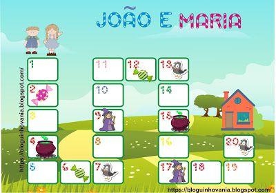 Bloguinho Da Vania Jogo De Trilha Joao E Maria Joao E Maria Jogos Jogos Matematicos Educacao Infantil
