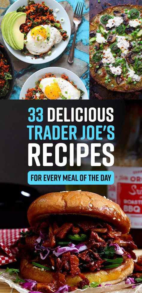 33 Delicious Recipes That You Need For Your Next Trip To Trader Joe's - Yemek Tarifleri - Resimli ve Videolu Yemek Tarifleri Trader Joes Vegetarian, Trader Joes Food, Trader Joe's, Vegetarian Recipes, Healthy Recipes, Trader Joe Meals, Healthy Foods, Healthy Munchies, Vegan Meals