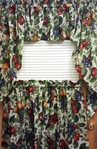 Best Kitchen Curtains Sonoma Fruit Pattern Swag Details Can Be Found By Clicking On The Image Note Fruit Pattern Traditional Kitchen Decor Curtain Shop