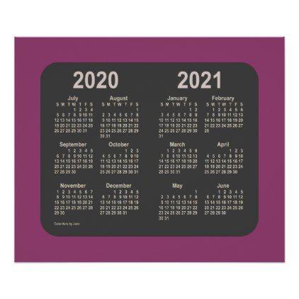 2020 2021 Calendar By Janz La Bocca Purple Neon Poster 2021 Calendar Custom Calendar Calendar