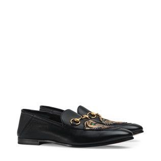 e786e09db76 Leather Horsebit loafer with panther