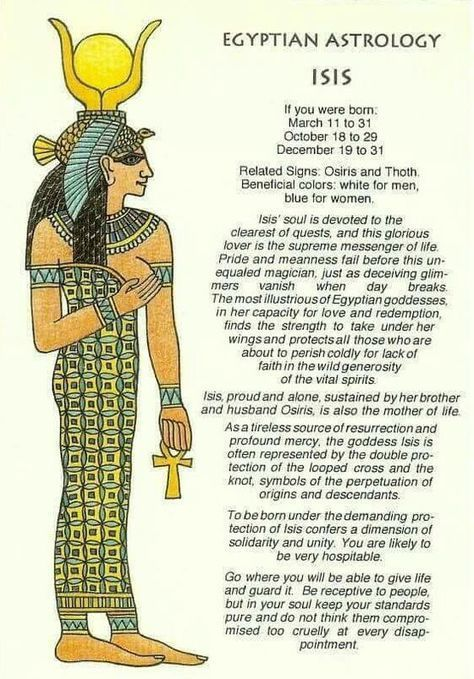 isis astrology meaning