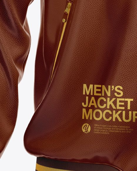 Download Men S Leather Bomber Jacket Mockup In Apparel Mockups On Yellow Images Object Mockups Mens Leather Bomber Jacket Leather Bomber Leather Bomber Jacket