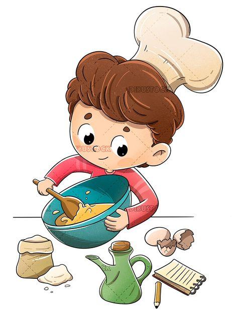 Cookbook Clipart : cookbook, clipart, Cookbook, Clipart, Ideas, Illustrations,, Kitchen