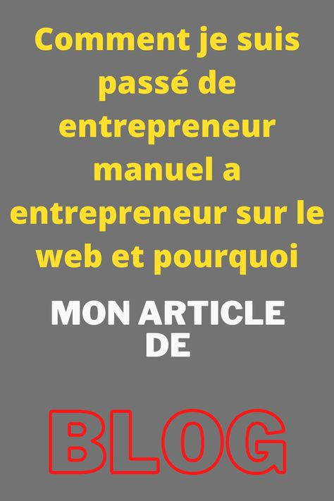 Comment devenir entrepreneur sur internet .