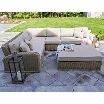 Azores 5 Piece Sectional Set Outdoor Furniture Sets Corner Chair Azores
