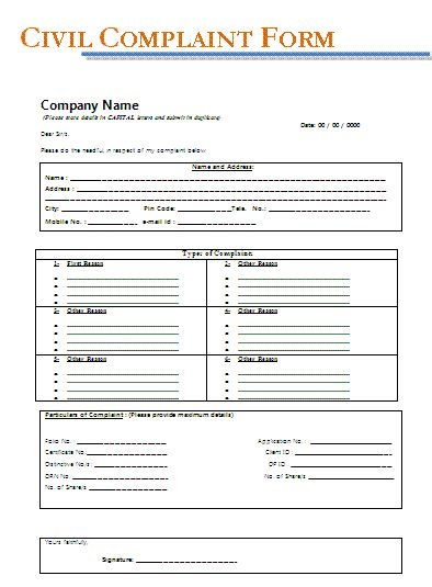 Free Legal Complaint Form My board Pinterest - sample consumer complaint form