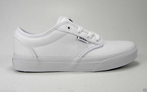 5de1f8b4aa98 Vans Atwood Canvas White Shoes Skate Casual Women Sneakers Vn-0Udt7Hn