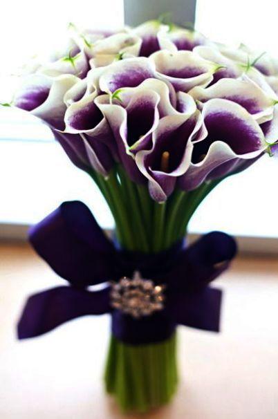 Wedding Flowers Typical Cost This Wedding Flowers Garland Purple Wedding Flowers Purple Calla Lilies Flower Bouquet Wedding