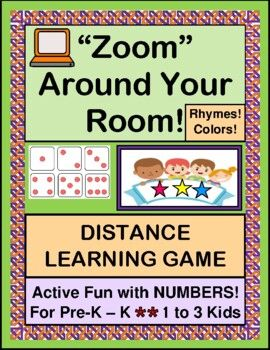 Have Fun With This Active Distance Learning Game Fun With Numbers And Colors For Pre K K Play Zoom Around Your Ro In 2020 Distance Learning Learning Numbers Pre K