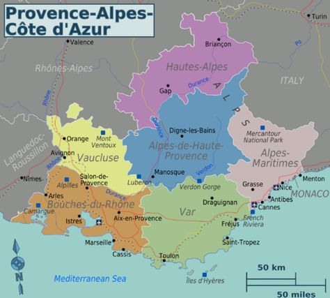 Provence Alpes Cote D Azur Toulon Wikitravel France Map