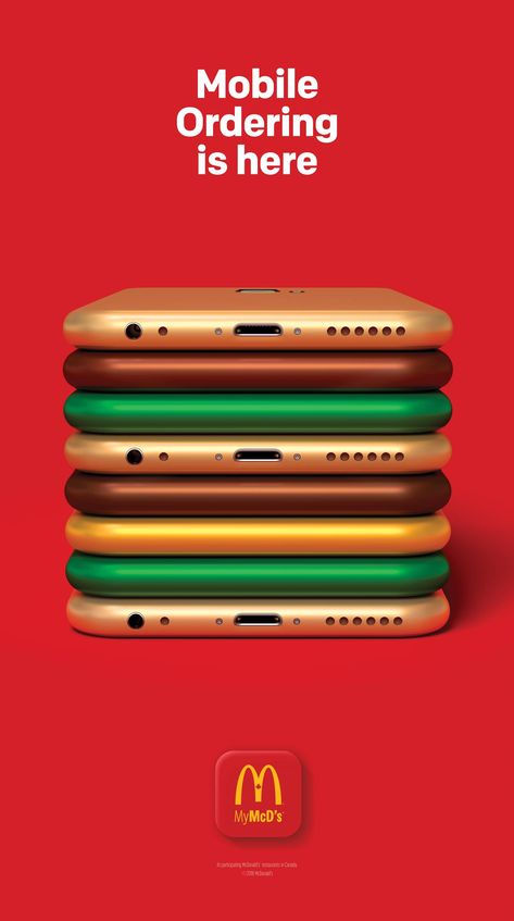 McDonalds: Mobile Ordering is here .- McDonalds: Mobile Ordering is here McDonalds: Mobile Ordering is here - Creative Advertising, Mobile Advertising, Ads Creative, Creative Posters, Advertising Poster, Marketing And Advertising, Best Advertising Campaigns, Ad Campaigns, Business Marketing