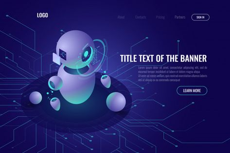 Download Robotics Technology, Machine Education And Artificial Intelligence Ai Isometric Icon for free