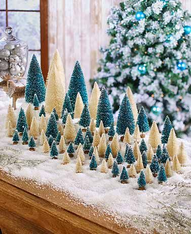 Add A Retro Touch To Your Holiday Decor With This 40 Pc Bottle Brush Tree Set You Get 6 D Bottle Brush Trees Bottle Brush Christmas Trees Diy Christmas Table