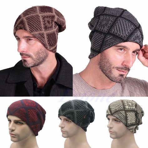 Winter Unisex Women Men Knit Ski Crochet Slouch Hat Cap Warm Beanie Hip-Hop Hats