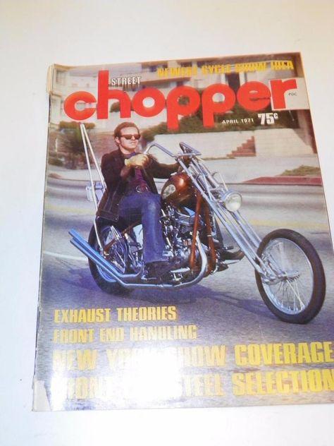Vtg Street Chopper April 1971 Motorcycle Magazine Custom Bike