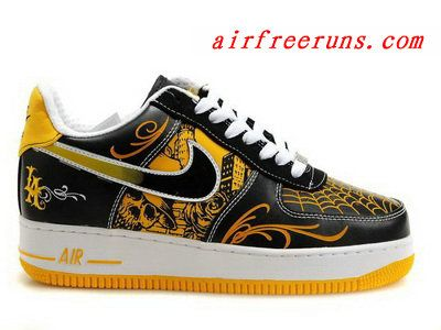 best service acd0d 14ddd Nike Air Force 1 Mr. Cartoon Black Yellow cheap nike shoes  cheap nike  shoes  Pinterest  Nike air force, Nike shoes and Shoes