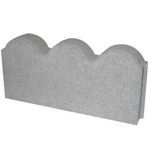 12 In X 2 In X 5 25 In Pewter Straight Scallop Concrete Edger 74800 The Home Depot Concrete Edger Flower Bed Edging Concrete Edging