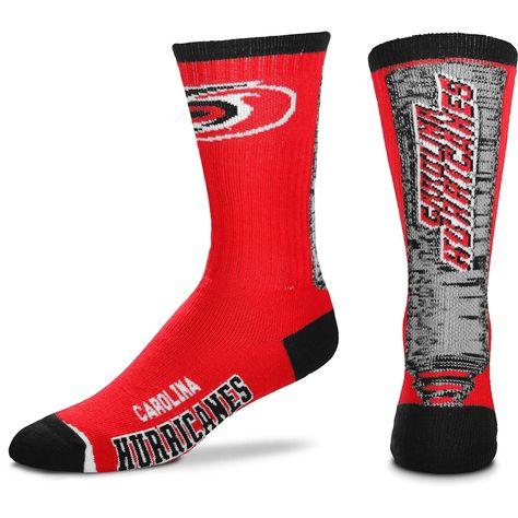 Women's For Bare Feet Carolina Hurricanes Jump Key Crew Socks, Size: Medium