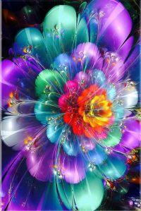 Neon Flowers Diamond Painting Kit at DiamondPaintingKits.com